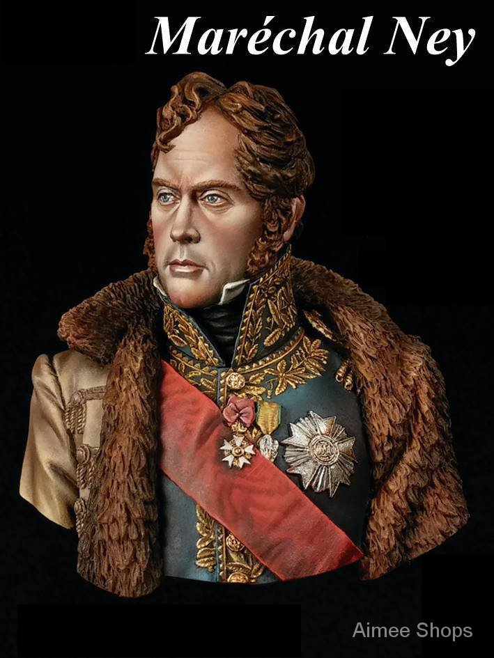 Unpainted Kit 1/10 Marechal ancient officer soldier bust   figure  Uncolor Resin Figure miniature garage kit YJHg