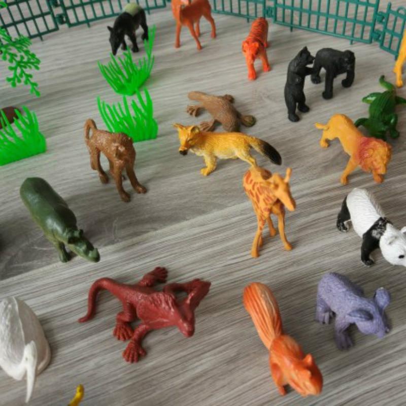 53pcs//set Mini Monde Animal Zoo Modèle Figure Action Toy Set Cartoon Simulation