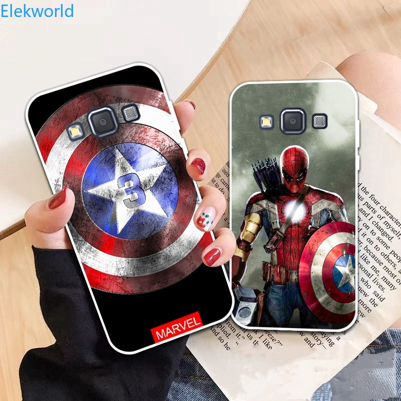 YB-Samsung A3 A5 A6 A7 A8 A9 Star Pro Plus E5 E7 2016 2017 2018 Spiderman pattern-5 Soft Silicon Case Cover
