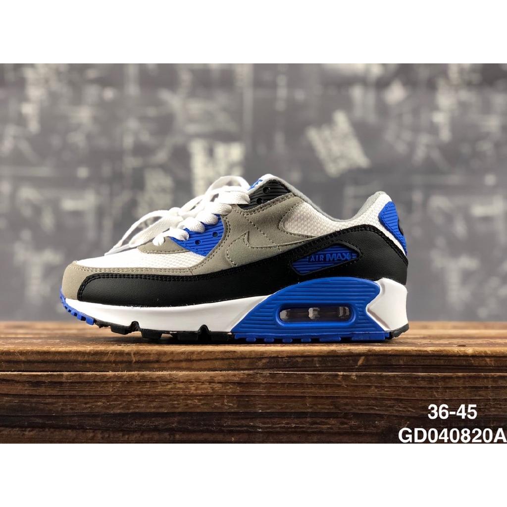 Nike Air Max 90 Nike Max90 เบาะลมด้านหลังรองเท้าผ้าใบกันกระแทกแบบสบาย ๆ