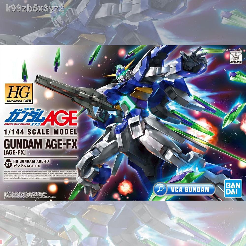 🔥มีของพร้อมส่ง🔥ลดราคา🔥◙☬☒BANDAI GUNPLA HIGH GRADE HG 1/144 GUNDAM AGE-FX AGE FX โมเดลกันดั้มกันพลา VCA