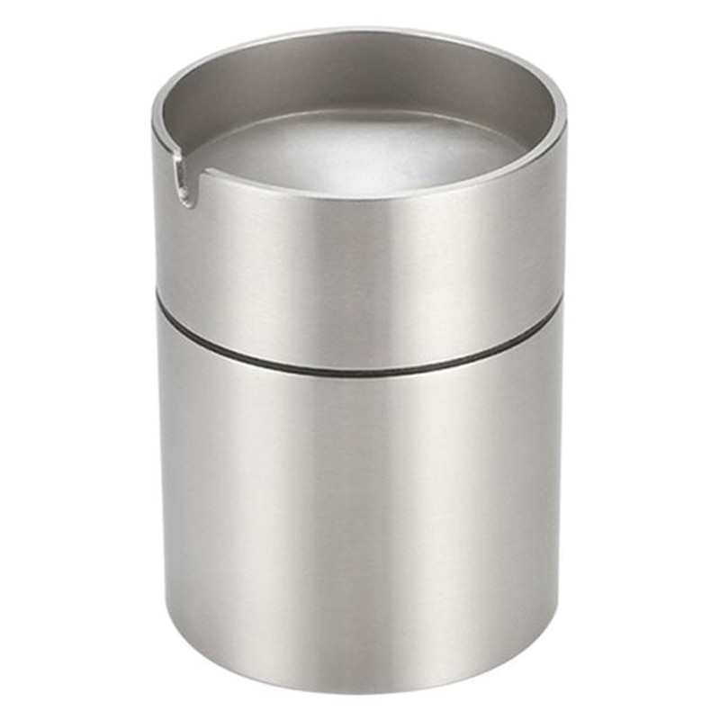 Stainless Steel Car Ashtray Smokeless Auto Cigarette Ashtray Ash Holder Creative Windproof Business Gift Car Car With Li