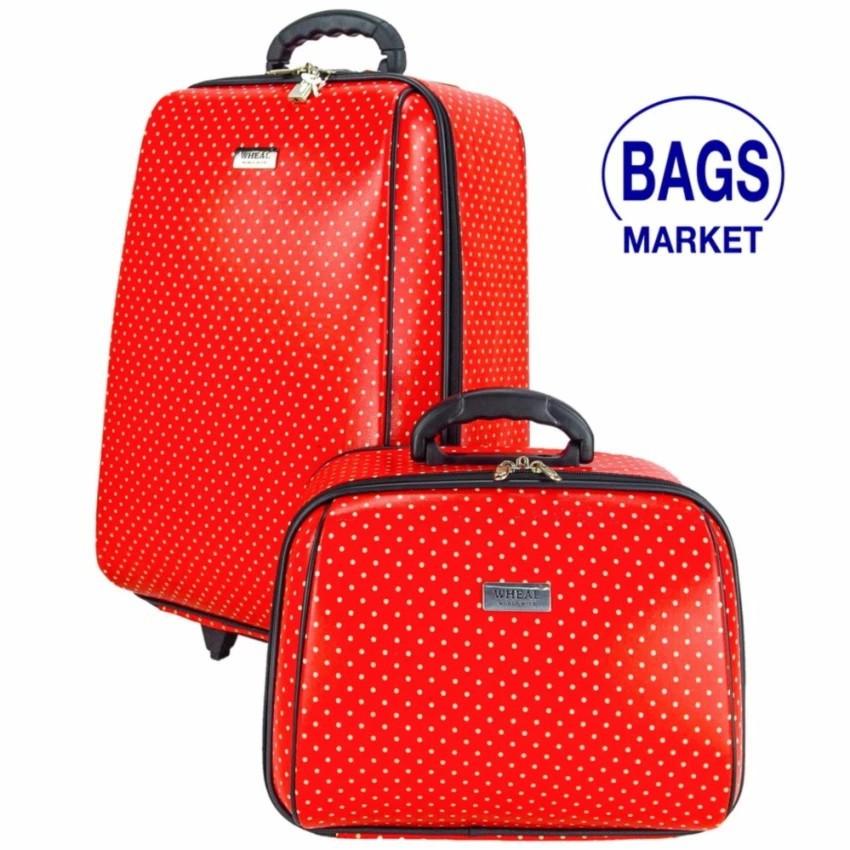 Wheal กระเป๋าเดินทาง กระเป๋าล้อลากเซ็ทคู่ ลิขสิทธิ์ของแท้ 20/14 นิ้ว B-Spot Red Classic Code F2014-BL(สินค้ามาตราฐาน)