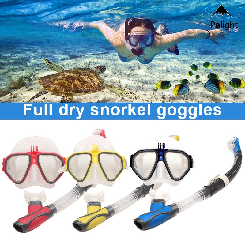 NEW 100/% Dry Snorkel Scuba Dive Diving Snorkeling Neon YELLOW Stays Dry