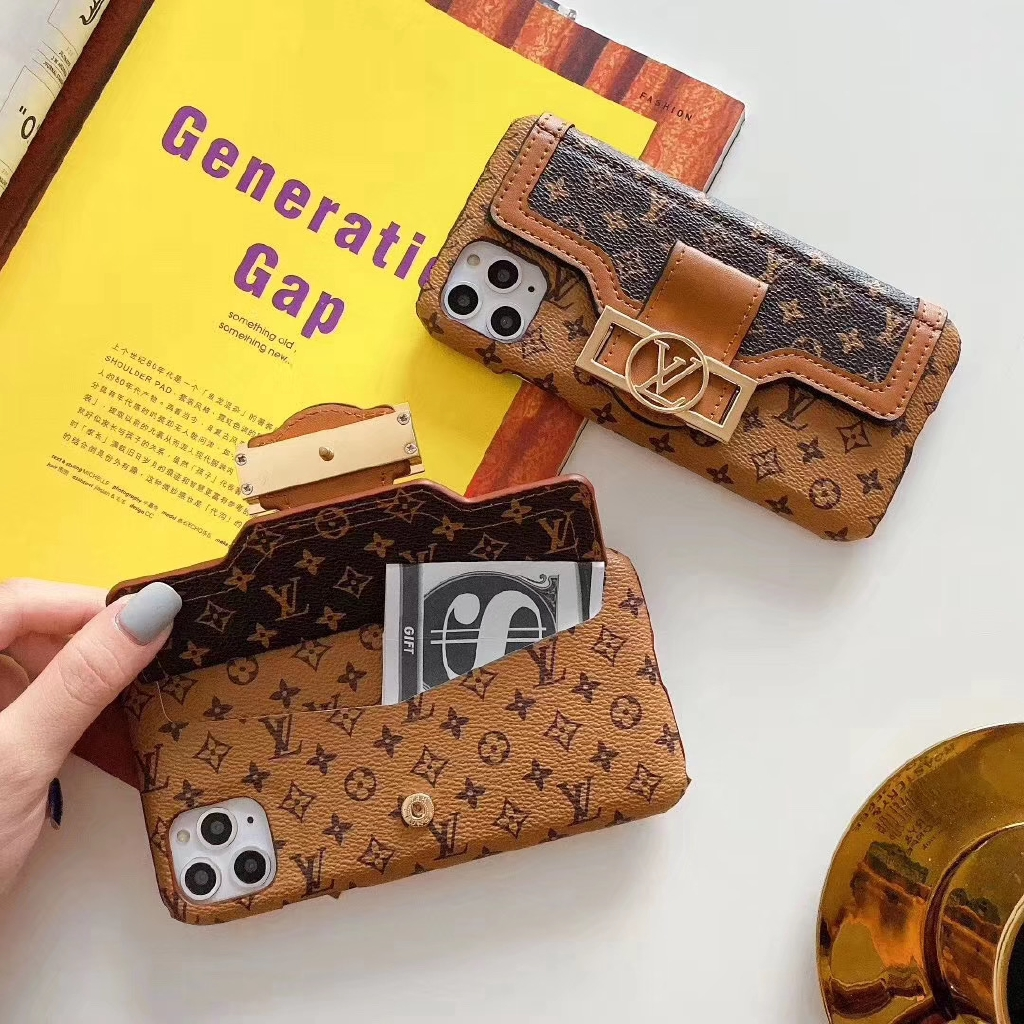 พร้อมส่ง iphone11pro Max 6 6s 7 8 7plus 8plus magnetic absorption card coin purse iX Apple Xr Xsmax phone case 11pro