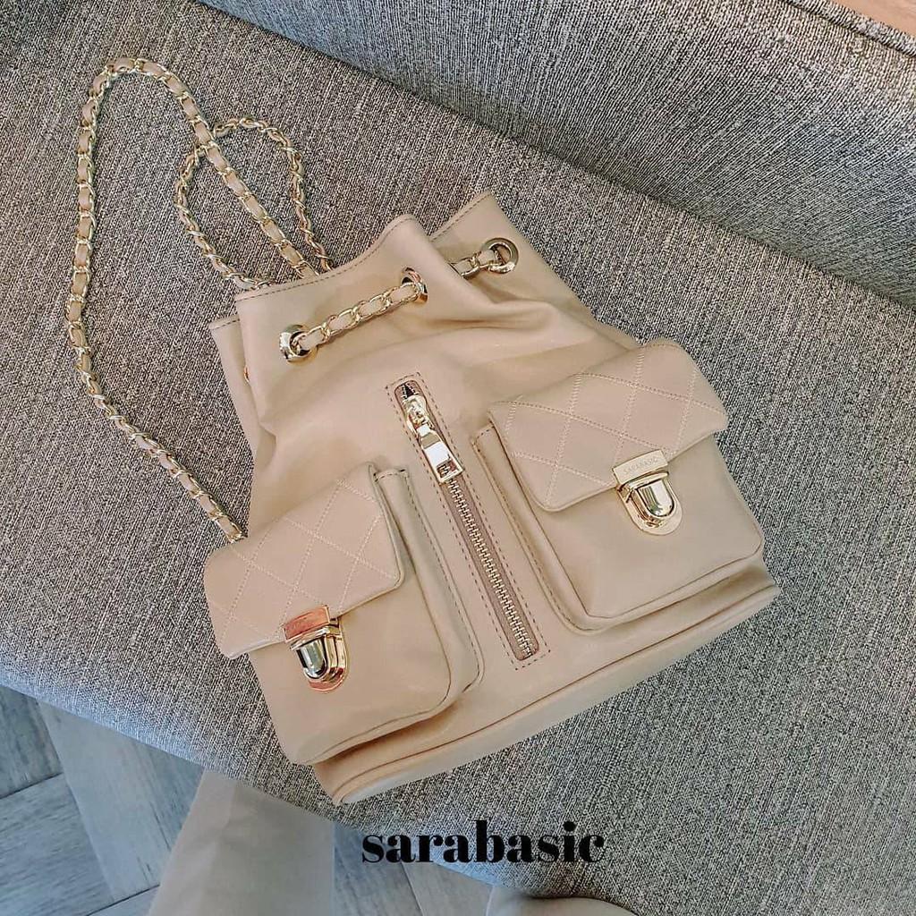 กระเป๋าเป้เดินทาง กระเป๋าเป้ใบเล็ก กระเป๋าเป้สายโซ่ Lady's bag by sarabasic