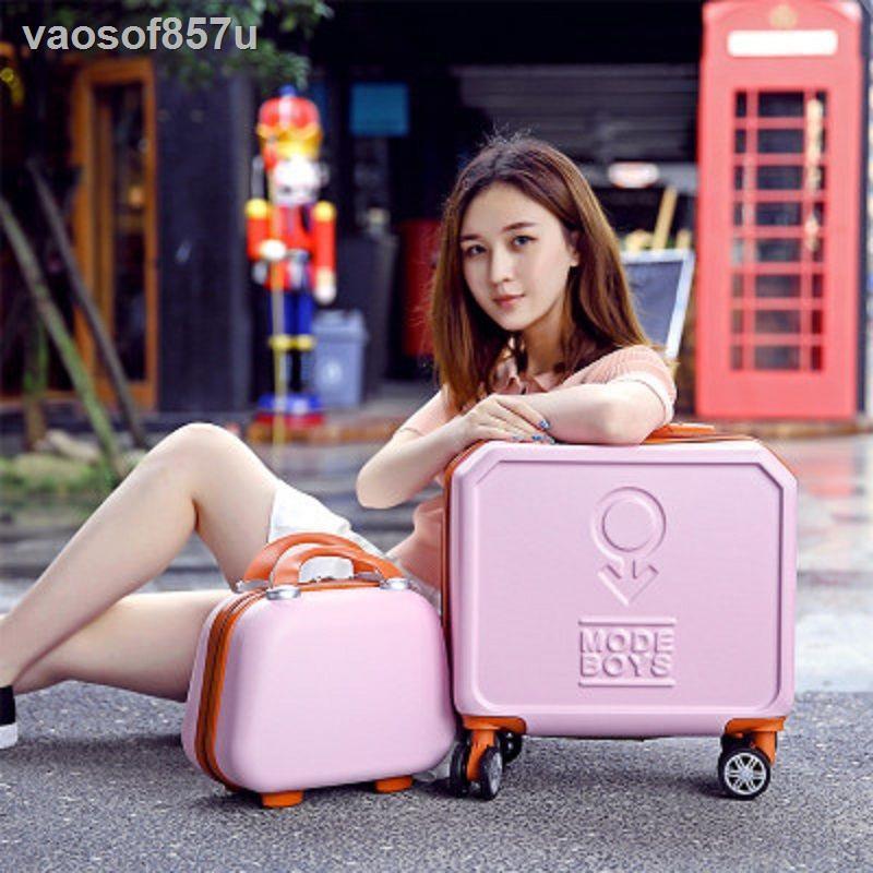 กระเป๋าเดินทางบนล้อกระเป๋าเดินทางขนาดเล็กกระเป๋าเดินทางหญิงกระเป๋ารถเข็น 18 นิ้วเกาหลีรุ่น 16 มินิกระเป๋าเดินทางน่ารักข