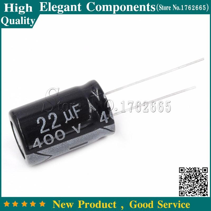 10PCS 400V 22UF 22UF 400V 13*21 Aluminum Electrolytic Capacitor 400V/22UF Size