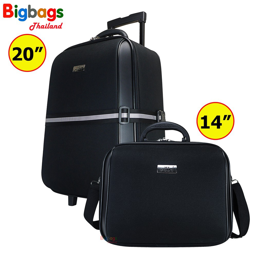 ☚BigbagsThailand กระเป๋าเดินทาง ชุดเซ็ทกระเป๋าเดินทาง MZ Polo พร้อมสายรัดกระเป๋า 20 นิ้ว และ 14 นิ้ว รุ่น AP2019 Sxwq♛