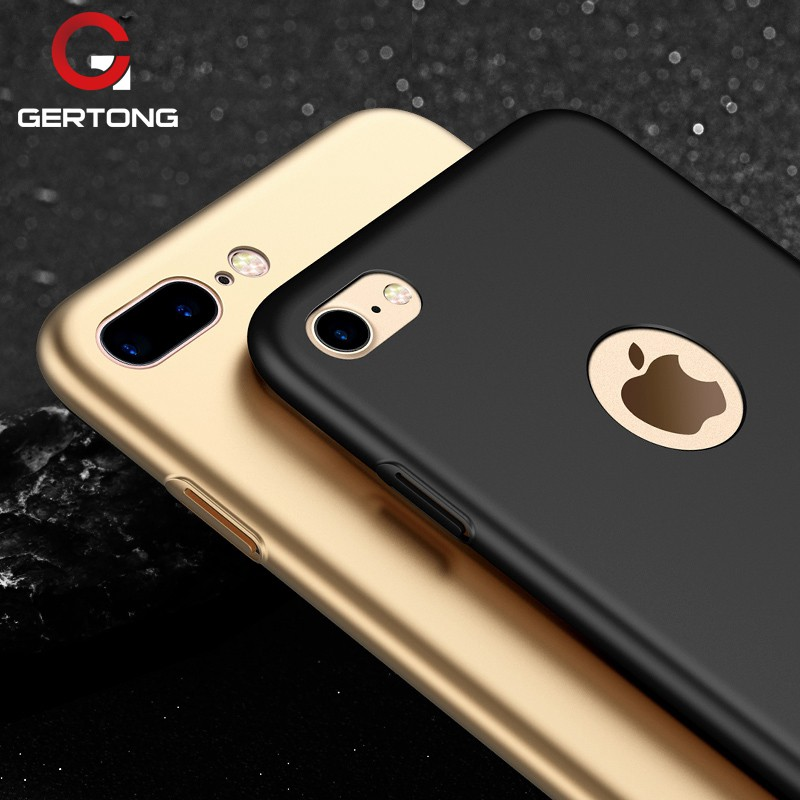 For iPhone 7 7 Plus Full Cover Protective เคส Silky Hard PC Matte Back Cover