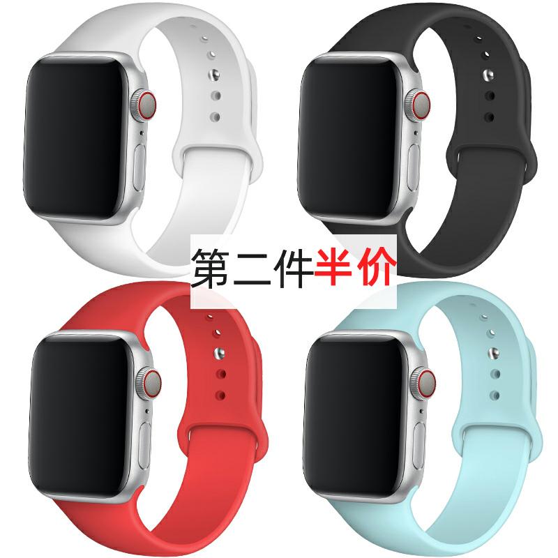 ใช้ได้ครับapplewatch1/2/3/4/5/6/SEตัวแทนiwatchสายนาฬิกาซิลิโคน Applewatchสายนาฬิกา Apple38/42mmของใหม่40ใส่ได้ทั้งชายและหญิง44น้ำseriesS6