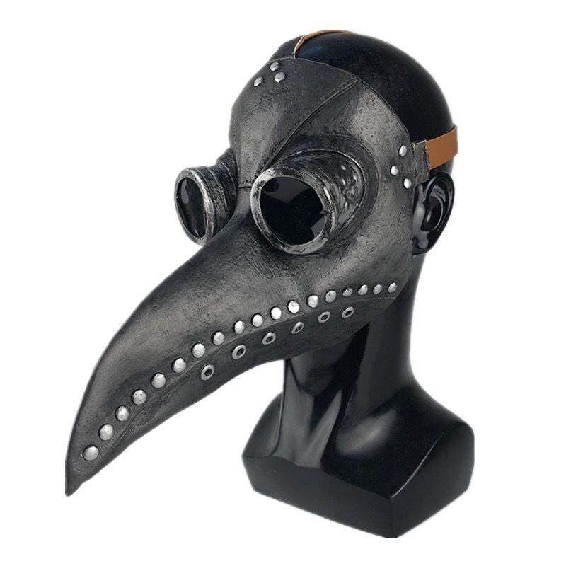 maskหน้ากากอนามัยสีดำฮาโลวีนCOSเสื้อผ้าอบไอน้ำพังก์ยุคกลางอุณหภูมิตัวเมียแพทย์จะงอยปากหน้ากาก SCP049สีดำอีกาหมวก 9xsC