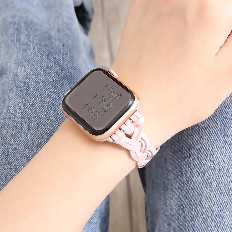 สายนาฬิกาข้อมือหนังสําหรับ Applewatch6 Se / 3 / 4 / 5