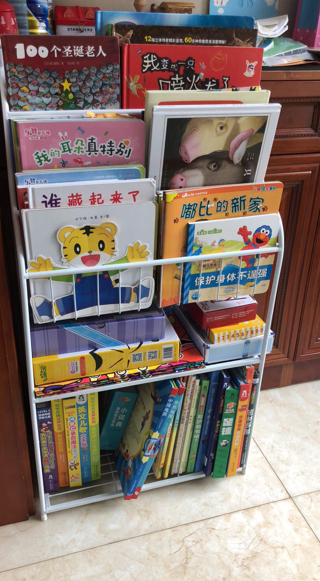 Children Shelf Children Picture Books Improvised Magazine Rack Shelf Kindergarten Students Figure Bookcase Display Shel