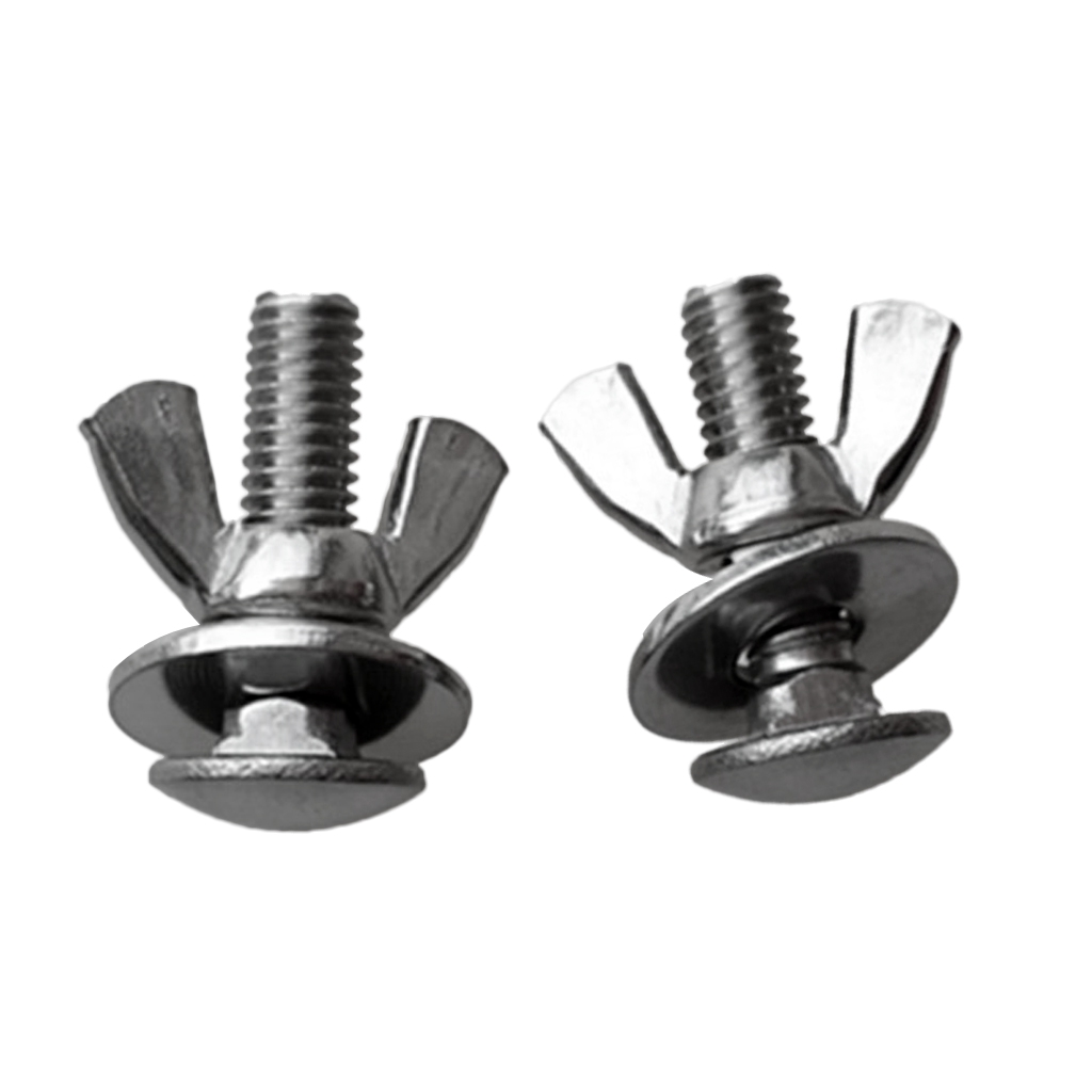 Stainless Steel Butterfly Wing Nuts Bolts /& Screws for Tech Diving Backplate