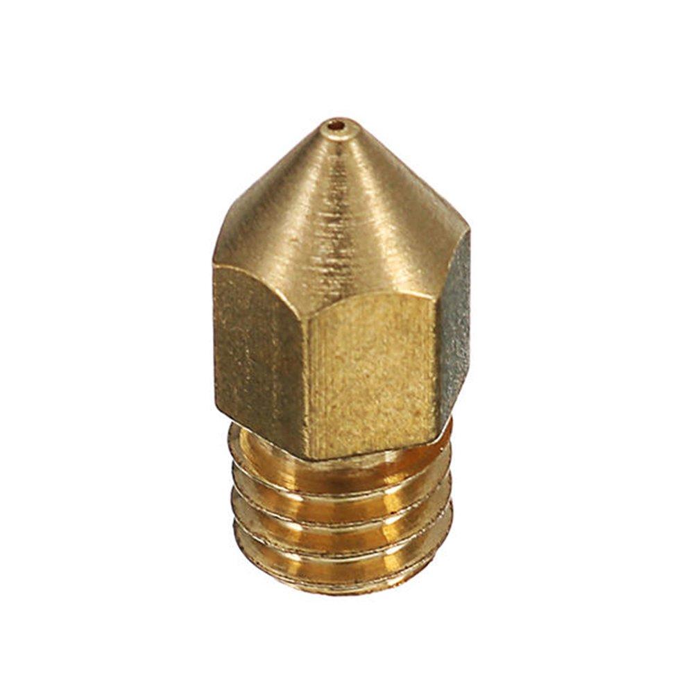 5PCS 0.4mm Copper M6 Thread Extruder Nozzle For 3D Printer