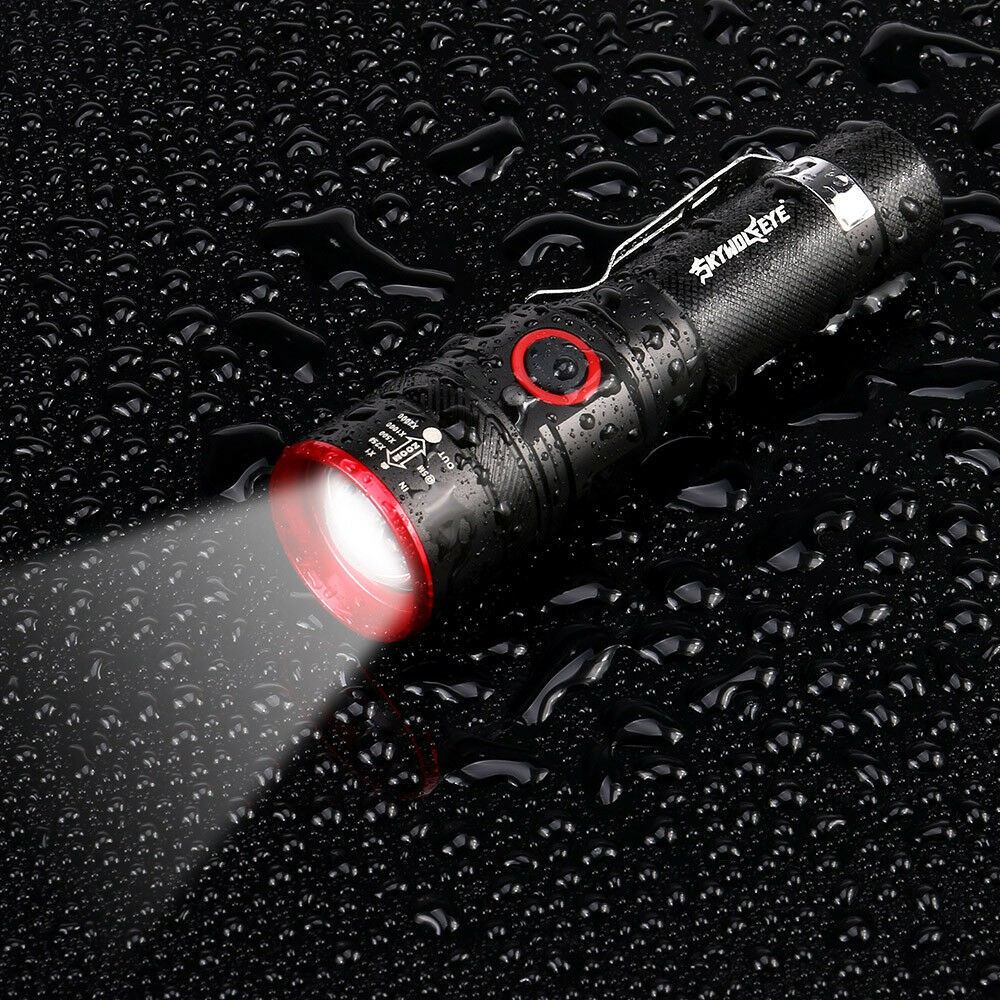 Portable 200000LM 3-Mode LED Magnetic Bright Flashlight Lamp Zoomable New FR