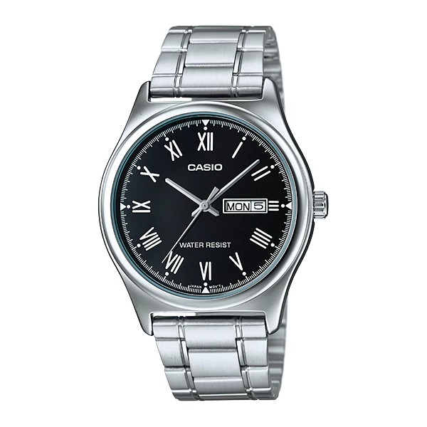 Casio นาฬิกาข้อมือ ผู้ชาย สายสแตนเลส รุ่น MTP-V006D-1B