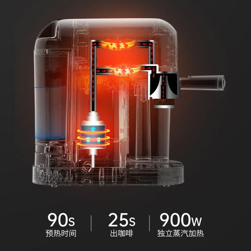 Konka เครื่องชงกาแฟเอสเปรสโซกึ่งอัตโนมัติแบบปุ่มเดียวที่บ้านเครื่องทำฟองนมสำนักงานขนาดเล็กที่บดสดใหม่
