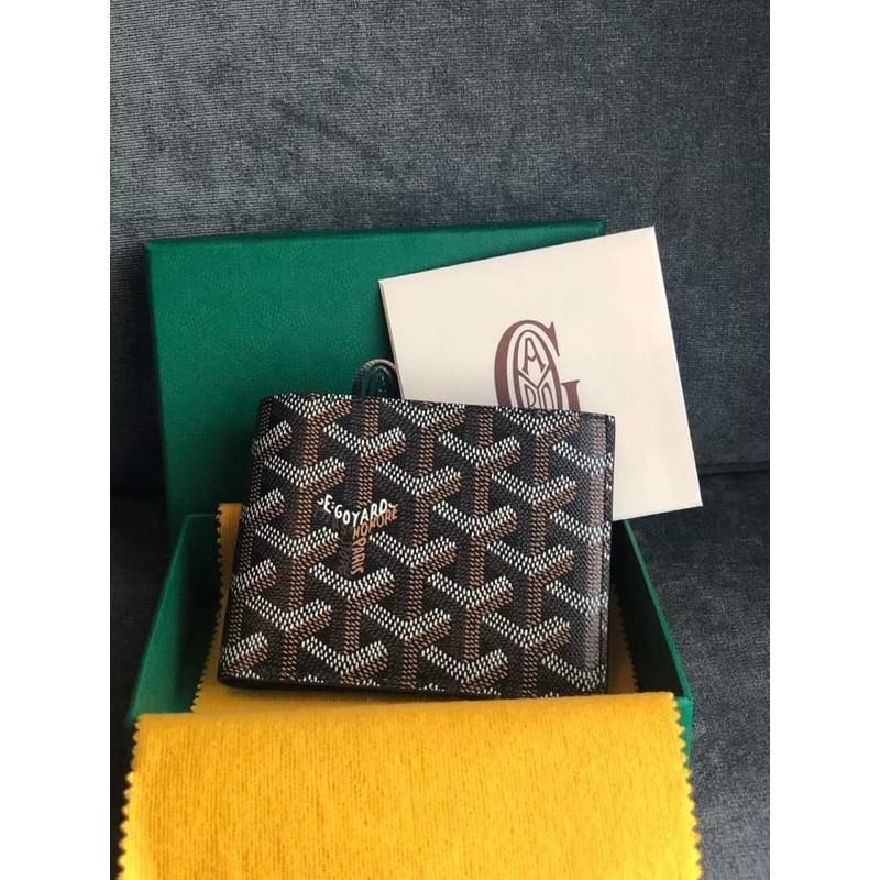 goyard mens wallet black