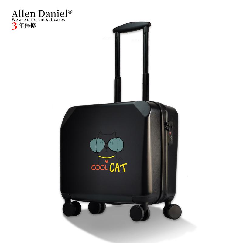α❥ กระเป๋าเดินทางล้อลาก กระเป๋าเดินทางล้อลากใบเล็กกรณีรถเข็นALLEN Danielกรณีรถเข็น18นิ้วล้อสากลกระเป๋าเดินทางขนาดเล็กเด็