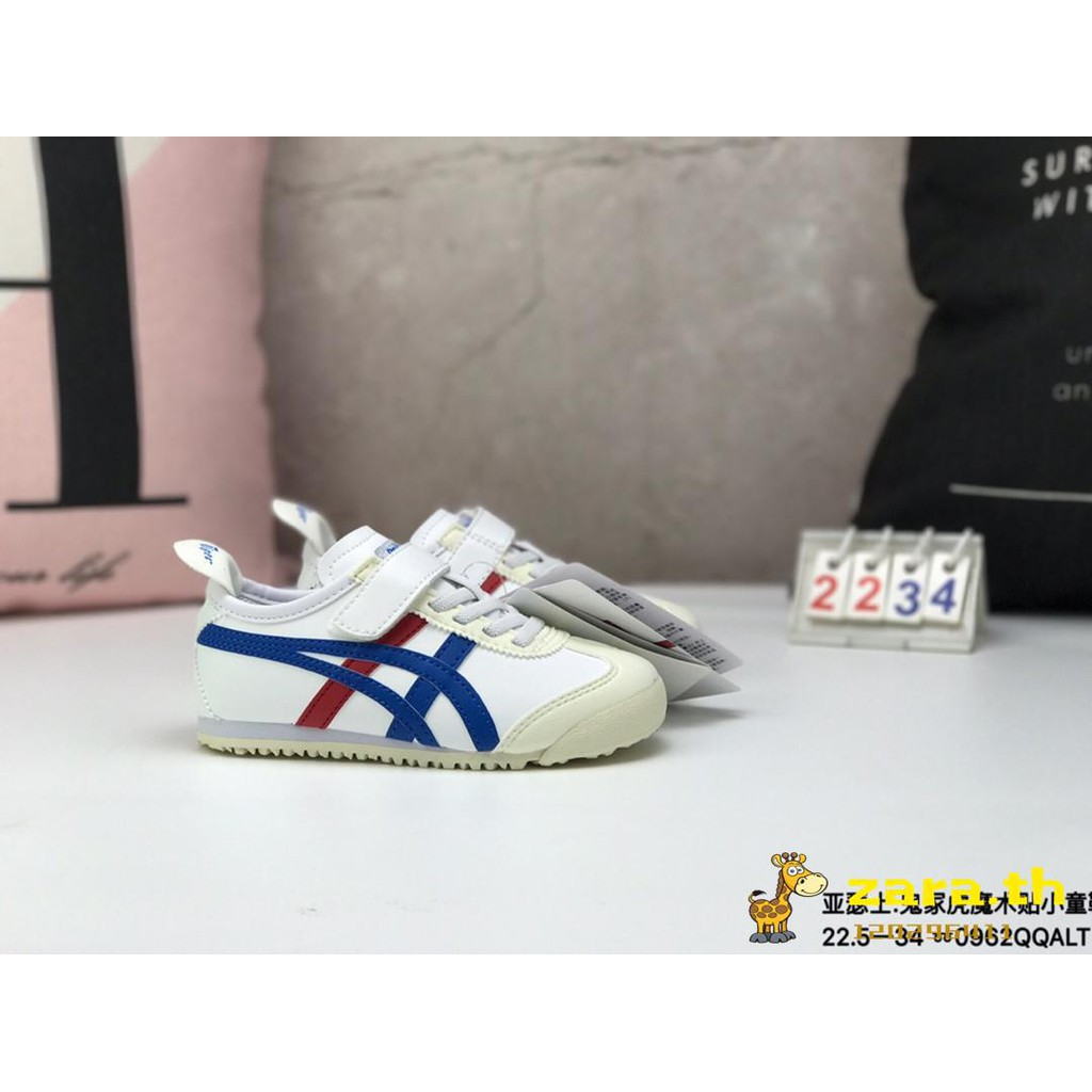 cheap for discount a877e e1ff3 Asics Yasushi Onitsuka Tiger mexico66. Ghost Tiger Velcro Kids Shoes