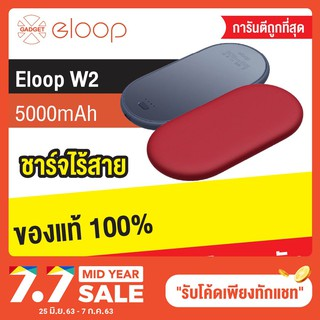 Review Eloop W2 ที่ชาร์จไร้สาย5000mAh Power Bank Quick Wireless Charger 18W 9V/2A 5V/2A Fast Charge