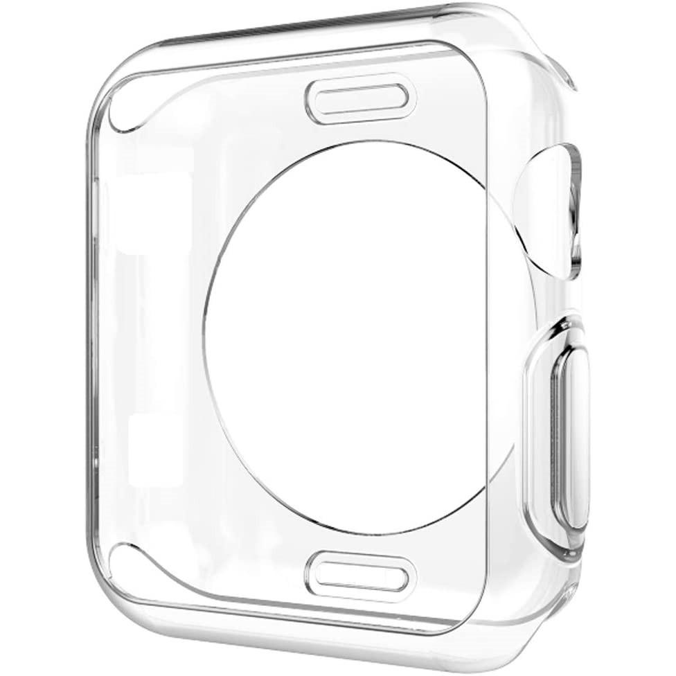 เคส Apple Watch Case 38mm 40mm 42mm 44mm Soft Clear Silicone Cover สำหรับ iWatch Series SE 6/5/4/3/2/1