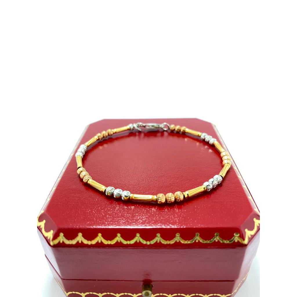 สร้อยข้อมือทองอิตาลี ทองคำแท้ (18K) น้ำหนักทอง 5.9กรัม มีใบรับประกันสินค้า