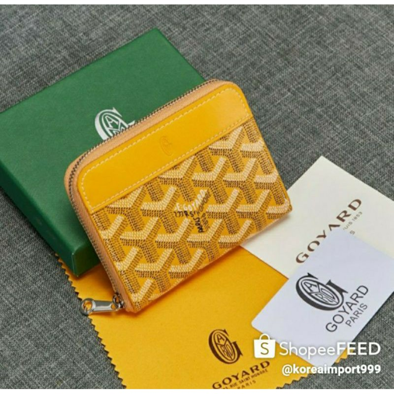 Goyard Belvedere Mini Zippy Wallet