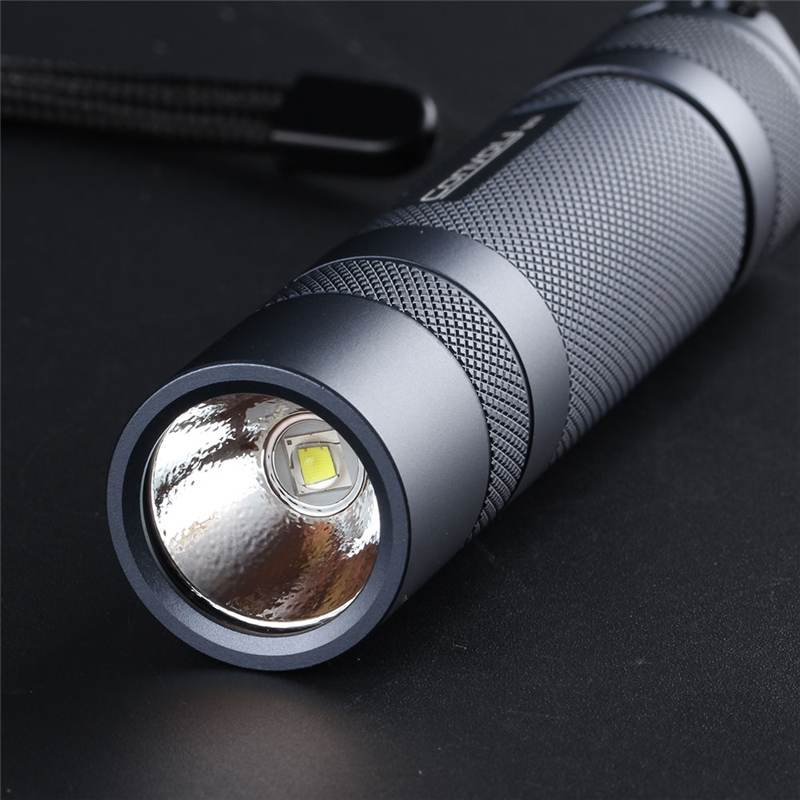 Convoy S21A 2300 Lumens Flashlight Copper DTP Board 18650 Battery 4 Modes Torch Light Camping Hunting Emergency Lamp Por