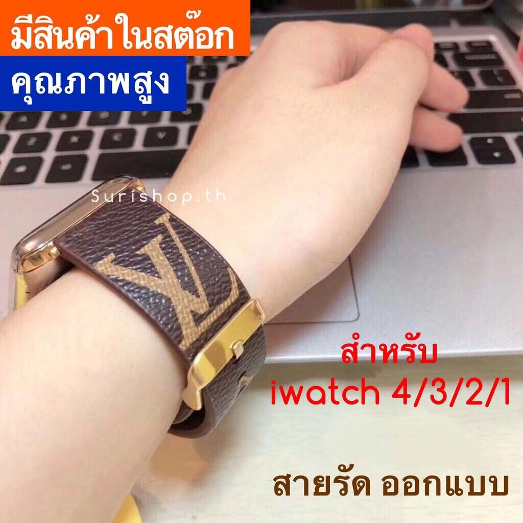 สายนาฬิกาข้อมือ Apple Watch 38(40)มม / 42(44 )มม Design Leather Strap apple watch series 6/SE/5/4/3/2/1