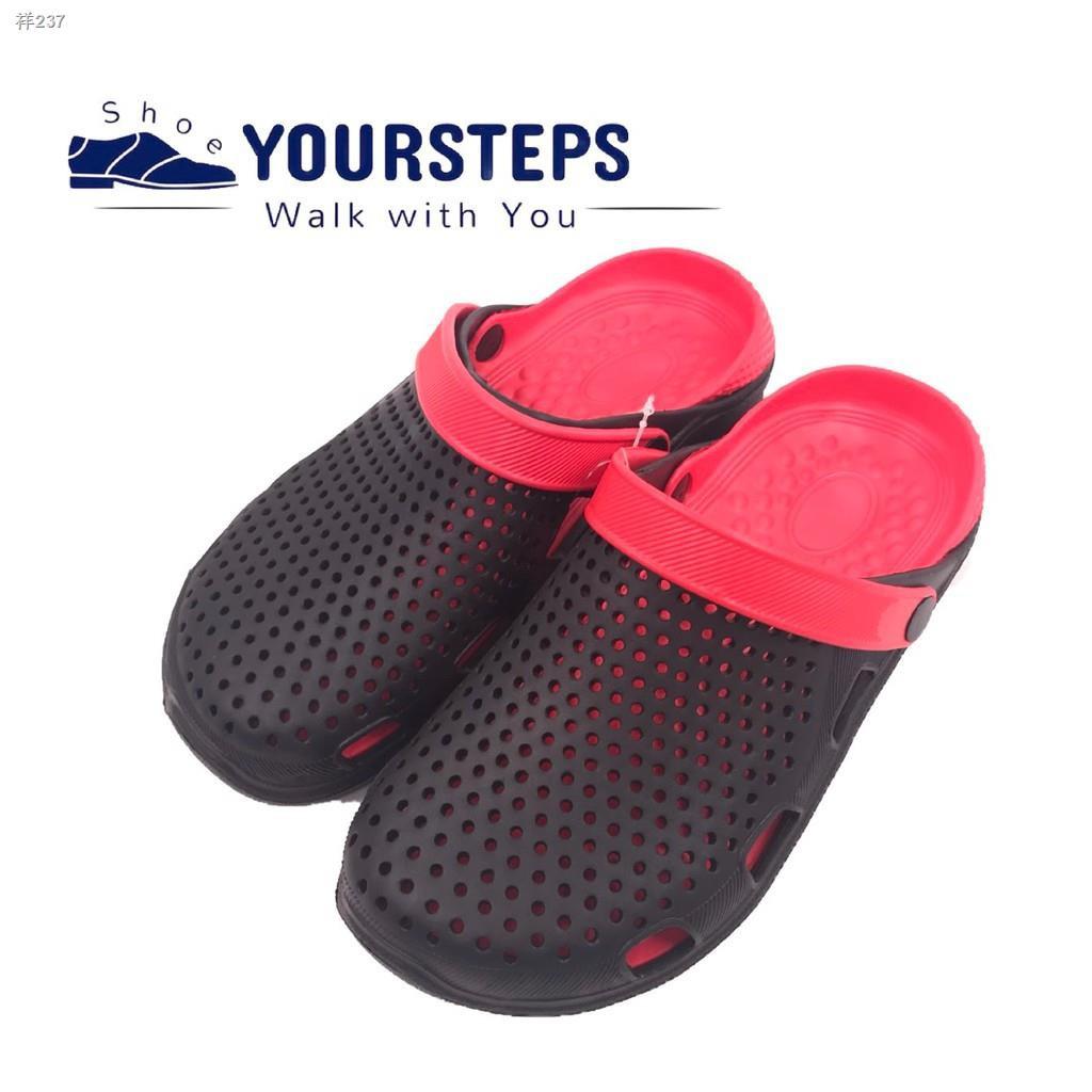 ☁✚✗ส่ง ค่าส่ง 28฿! รองเท้าแตะผู้ชาย แบบสวม สไตล์สุดฮิต รุ่นCRO729