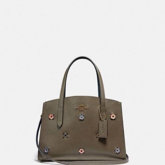 COACH CHARLIE CARRYALL 28 WITH SCATTERED RIVETS