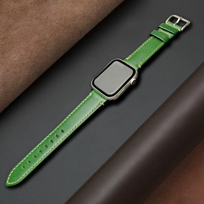 【สาย Apple】นาฬิกาหนัง Apple ที่ใช้ได้กับ applewatch SE1 ~ 6 รุ่นของ iwatch หนังอิตาเลี่ยนสากลสำหรับผู้ชายและผู้หญิง