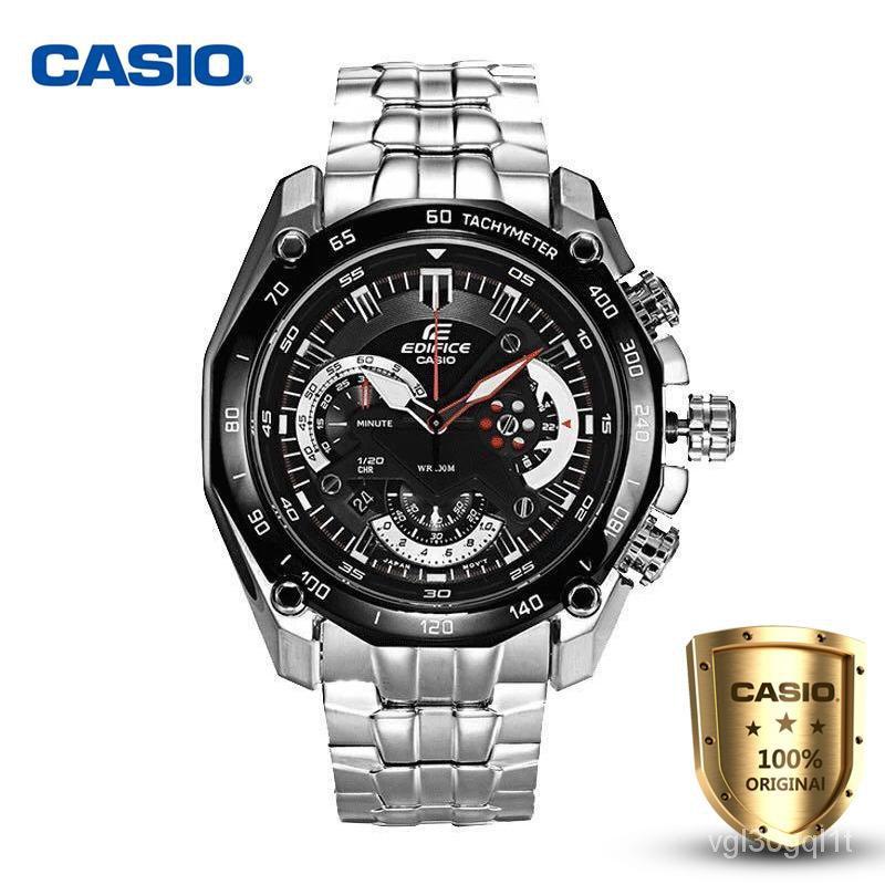 โปรโมชั่น Casio Edifice รุ่น EF-550D-1AV สินค้าขายดี นาฬิกาข้อมือผู้ชาย สายสแตนเลส (ของแท้100% ประกัน1ปี )จัดส่งฟรี สามา