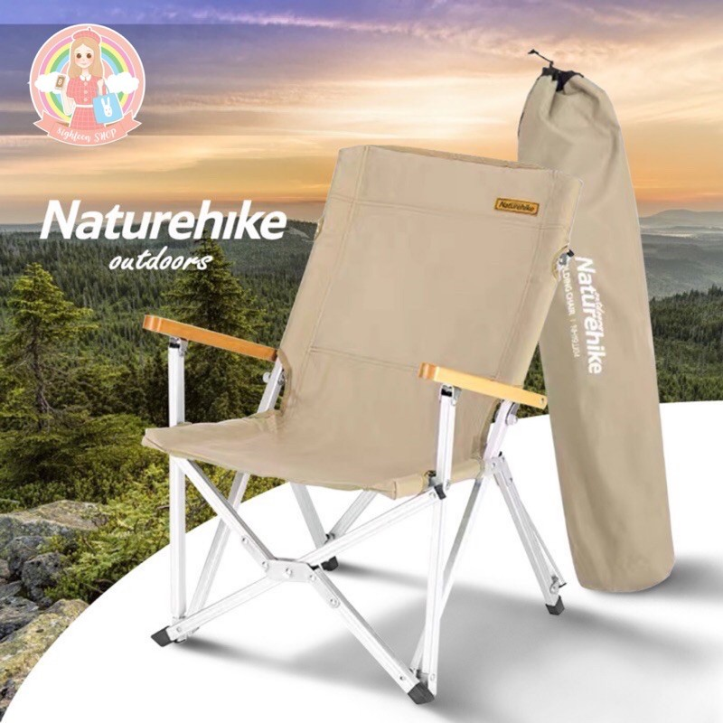 NatureHike*เก้าอี้พับได้เดินป่าพกพาง่าย เก้าอี้แคมปิ้งCamping เก้าอี้ outdoor 8ighteen