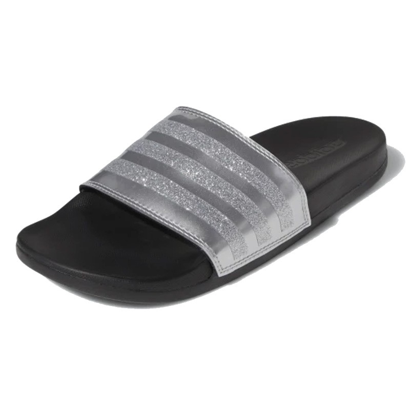 Adidas รองเท้าแตะผู้หญิง Adilette Cloudfoam Plus Explorer G27728 (Silver Metallic/Core Black) *สินค้าลิขสิทธิ์แท้