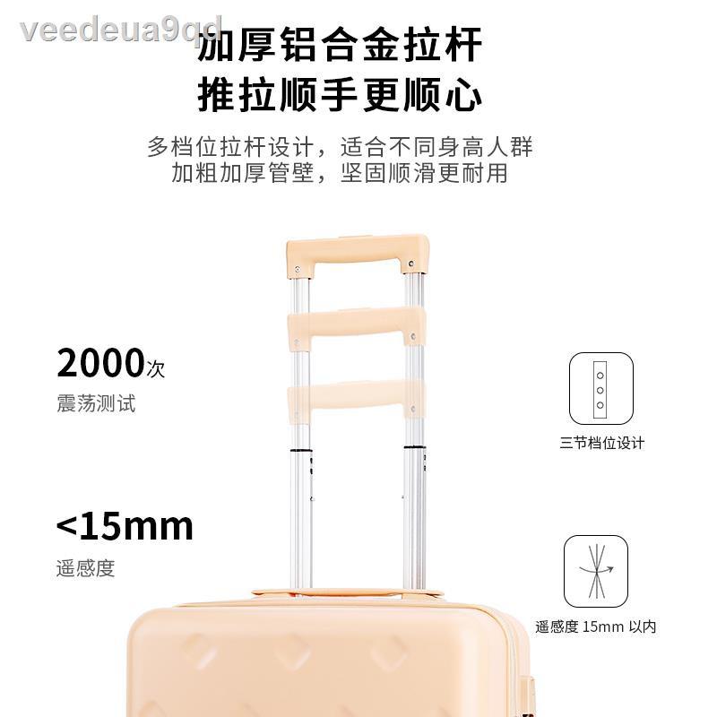 ข้น❦۩กระเป๋าเดินทางโดยสารขนาด 18 นิ้ว กระเป๋าเดินทางขนาดเล็กน้ำหนักเบาขนาดเล็ก กระเป๋าเดินทางใบใหม่ กระเป๋าเดินทางผู้หญิ