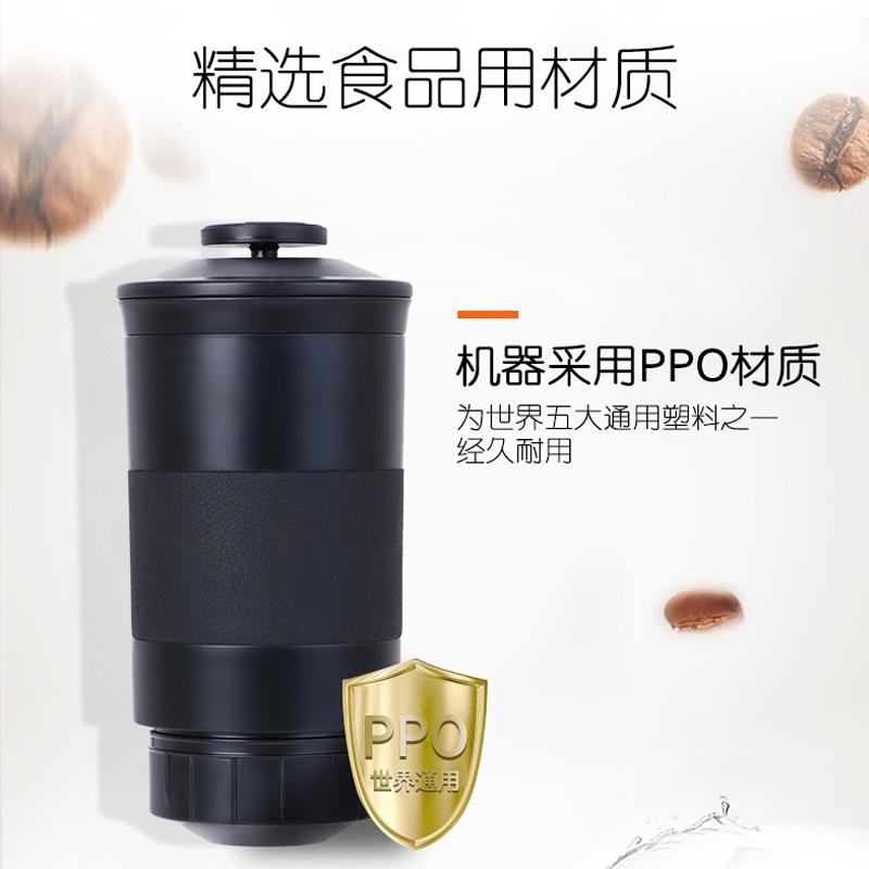 เครื่องทำกาแฟOmnicup เครื่องชงกาแฟแคปซูลสำนักงานมือกดแบบพกพาขนาดเล็กขนาดเล็กอเมริกันอิตาลีเข้มข้นครัวเรือนกลางแจ้ง