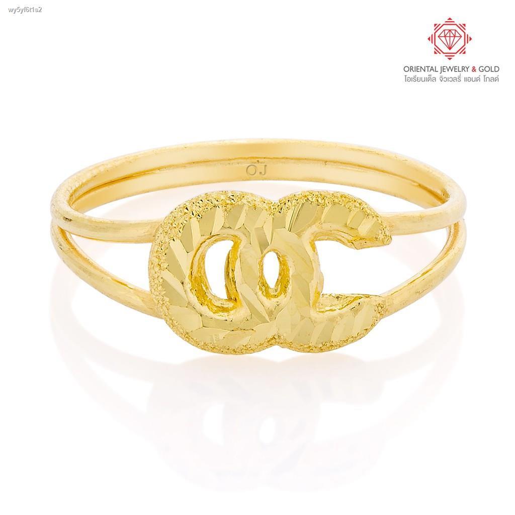ราคาต่ำสุด✽✟♟[ถูกที่สุด] OJ GOLD แหวนทองแท้ นน. 1 กรัม 96.5% OC ขายได้ จำนำได้ มีใบรับประกัน แหวนทอง แหวนทองคำแท้