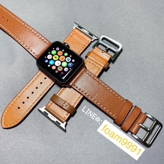 สายหนังLeather AppleWatch 44mm จัดส่งฟรีEMS