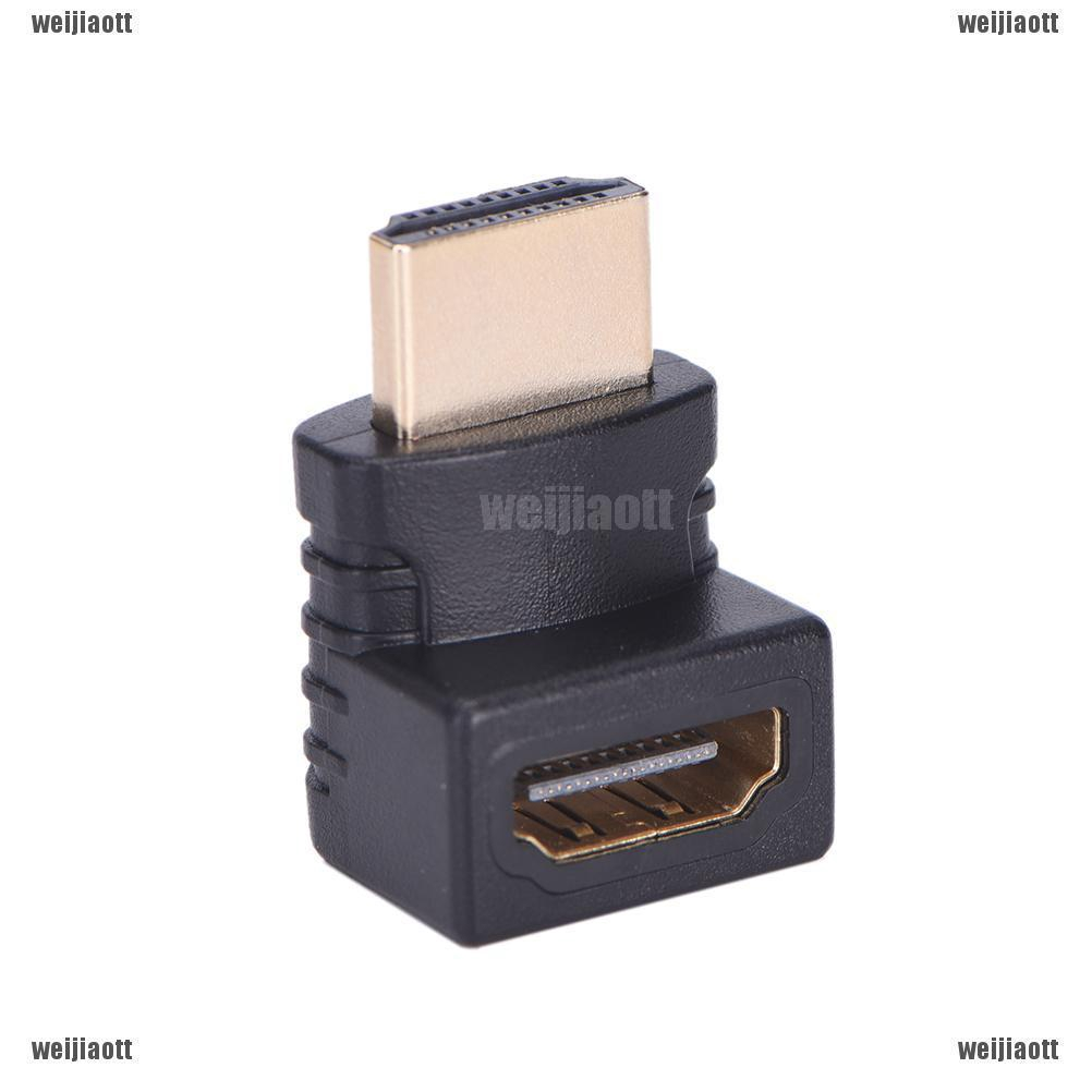 1pc 19pin HDMI Male to Female M//F Right Angle 90D Adapter Converter Gold Plated
