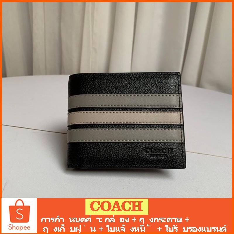 COACH F73629 กระเป๋าสตางค์ forever กระเป๋าสตางค์หนัง กระเป๋าสตางค์ผู้ชาย กระเป๋าสตางค์  กระเป๋าสตางค์ใบสั้น