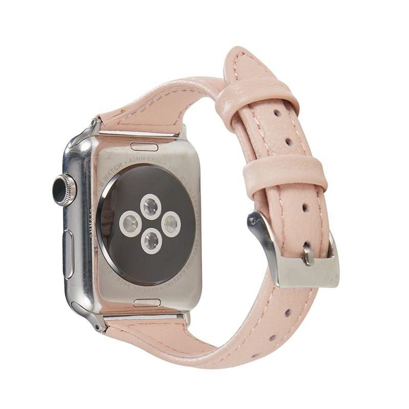 สายนาฬิกา applewatch สาย applewatch สาย applewatch แท้ นาฬิกาแอปเปิ้ลที่ใช้งานได้AppleWatchสายหนัง iwatchรอบเอวบางสาย