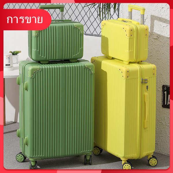 กระเป๋าเดินทางสุทธิสีแดงหญิง 24 นิ้วความจุขนาดใหญ่รถเข็นกระเป๋าเดินทาง 26 นักเรียนเกาหลีรุ่นกระเป๋าเดินทางน้ำรหัสผ่านกล่