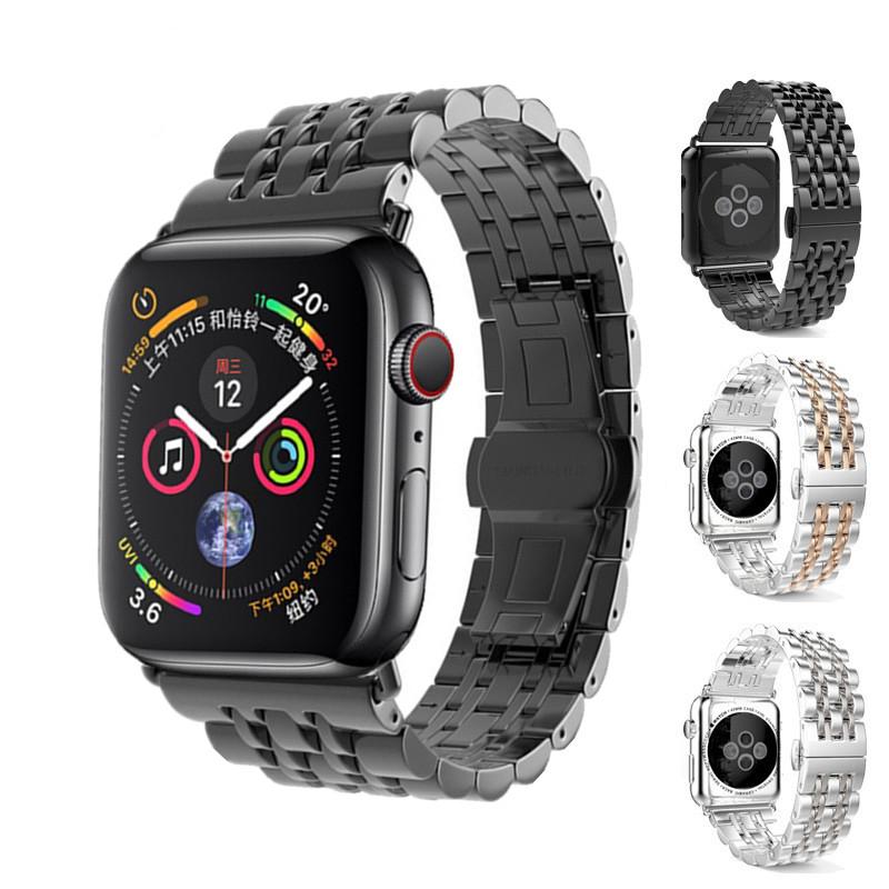 ⅽ∮APPLE WATCH iwatch5สายโลหะสแตนเลสสำหรับ Apple Watch Series SE STRAP iwatch6 STRAP iwatch1/2/3/4/5/6 Generation Watch w