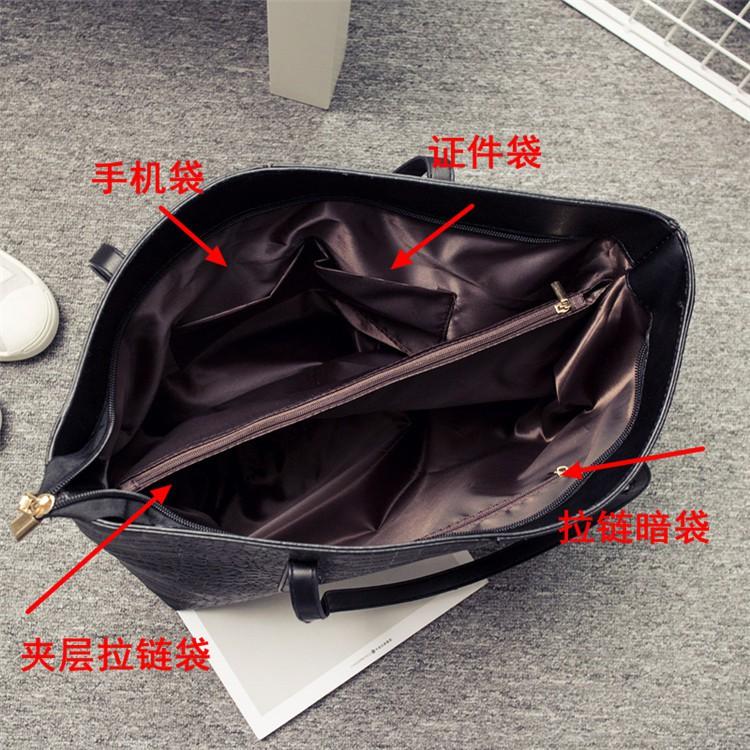 ✐กระเป๋า 2020 ใหม่หญิงกระเป๋าหินรูปแบบความจุขนาดใหญ่กระเป๋าสะพายแฟชั่นกระเป๋าถือลำลองขนาดใหญ่กระเป๋าเดินทาง