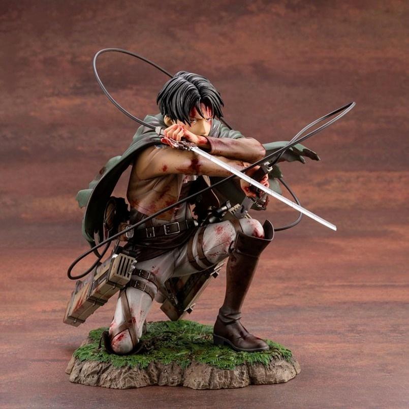 ◐>18cm Attack on Titan Figure Rival Ackerman Action Figure Package Ver. Levi PVC Action Figure Rivaille Collection ของเล