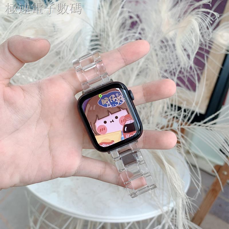 สายนาฬิกาข้อมือเรซิ่นสีใสสําหรับ Applewatch Applewatch 6se 5 / 6